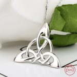 Mother's Days Silver Brand <b>Accessories</b> Necklaces For Irish Celtic Knot Triangle Vinta Custom 925 Silver <b>Jewelry</b> Chain Necklaces