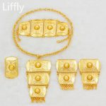 New Fashion Classic 24 Gold Dubai <b>Jewelry</b> Sets Necklace Rings for Women Earrings Charm Women Luxury Wedding <b>Jewelry</b> <b>Accessory</b>