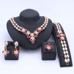 Wedding Women Rhinestones 6 Colors Crystal <b>Jewelry</b> Sets Bridal Party <b>Accessories</b> Gold Color Necklace African Beads Jewerly Sets