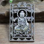 Do the old <b>antique</b> collection exquisite <b>jewelry</b> carved hollow brand sitting Guanyin Pendant paktong