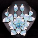 Gorgeous Bridal <b>Jewelry</b> Sets Wedding Statement Necklace Earring set for Brides Party costume <b>Accessories</b> Flower Decoration Women