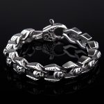Punk Bracelet Men <b>Jewelry</b> Stainless Steel Skull Bracelets Bangles Mens Jewellery Vintage <b>Accessories</b> Hand Chain Pulseras Hombre