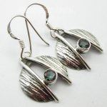 <b>ANTIQUE</b> STYLE <b>JEWELRY</b> STORE !! Pure Silver MYSTIC Topas ART Earrings 3.1 CM