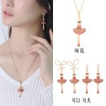 High Quality Ballet Dancer ballerinas Earring Necklace <b>Jewelry</b> Sets For Women Lady Party <b>Accessories</b> Elegant All-match