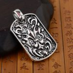 [King] silver pendant deer <b>jewelry</b> wholesale S925 Sterling Silver Pendant with a big <b>Antique</b> Style