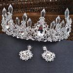 2017 New Fashion Crystal Bridal Crown and Earrings European Diadem for Women Earrings Wedding Hair <b>Jewelry</b> <b>Accessories</b>