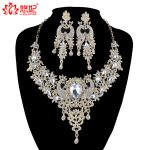 African Bridal Golden <b>jewelry</b> sets phoenix bird style rhinestone necklace and earrings set Women Party Prom pageant <b>accessories</b>