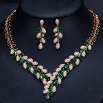 New luxury women <b>Jewelry</b> Sets with cz stone 2pcs <b>jewelry</b> sets ( necklace & earring ) Dinner dress <b>accessories</b> Free drop shipping
