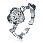 Hemiston Luxury <b>Antique</b> 100% 925 Sterling Silver Vintage Heart White Zircon Rings for Women <b>Jewelry</b> SVR271