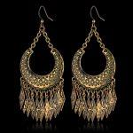 Vintage <b>Jewelry</b> Earrings <b>Antique</b> Indian Earrings For Women, Wholesale Gold Color Long Tassel Earrings ,brincos para as mulheres