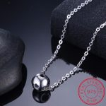 925 Sterling Silver Bead Necklaces & Pendants Hollow Dog Print Necklace For Women Love Heart <b>Jewelry</b> Dog Paw <b>Accessories</b> Collar