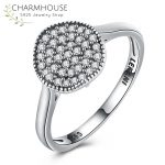 <b>Antique</b> Silver <b>Jewelry</b> Rings for Women Men Dazzling Cubic Zirconia Ring Sterling Silver 925 <b>Jewelry</b> Wedding Accessories Anillos