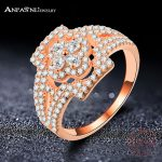 ANFASNI Trendy 925 Sterling Silver Ring Zircon Ring Women Horseshoe <b>Accessories</b> Engagement Ring <b>Jewelry</b> Free Shipping CGSRI0025