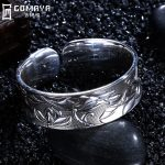 GOMAYA 999 Sterling Silver Bangles New design Fashion Vintage <b>Antique</b> Wide Cuff Bracelet Retro Fine <b>Jewelry</b> Gift for Women