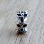 Charms 925 Sterling Silver Three Flowers <b>Antique</b> Making Bead Fit Vintage Charm European Style <b>Jewelry</b>
