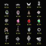 (ML1233-1252)100PCS Nail <b>Art</b> <b>Deco</b> Silver Deluxe 3D Nail <b>Art</b> Decoration Alloy <b>Jewelry</b> Glitter Rhinestone Alloy <b>Jewelry</b> 24designs