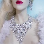Fashion big Jewellery Sets Dubai statement Necklace Earrings Bridal <b>Jewelry</b> Set Brides Party Wedding <b>Accessories</b> Decoration