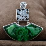 """S925 silver <b>jewelry</b> wholesale silver inlaid <b>antique</b> style female students """"Gan Qing Tielong Pendant"""