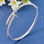 Fashion Women Wedding Bangles & Bracelet Trendy Zircon Bangles Couple <b>Jewelry</b> Luxury Brand Dubai <b>Accessories</b> Love Bangle