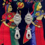 India Hippie Retro BOHO Big Earring Pendant Handmade <b>Antique</b> Silver Exaggerated Performance <b>Jewelry</b>. Iran Turkmenistan Pakistan
