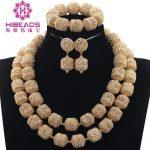 Trendy Brides Gold Metal Rhinestone African <b>Jewelry</b> Set Charms 2 Layers Wedding <b>Jewelry</b> <b>Accessory</b> for Collar Necklace Set ABH458