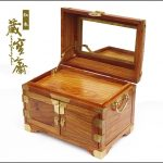 Tibetan Bao Zhai <b>antique</b> pear dressing mirror Tongsuo three wooden box wooden <b>jewelry</b> box cosmetic box multi-
