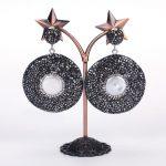 dankaishi Ethnic <b>Jewelry</b> Boho Rhinestone Round Drop Earrings for Women Vintage <b>Antique</b> Crystal Fresh Water Pearl Charm Birthday