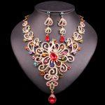 Fashion Bridal <b>Jewelry</b> Set Statement Rhinestone Peacock Necklace Earrings Sets Party Wedding Prom Costume <b>Accessories</b> Gift Women