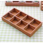 Hot 8 Lattices Wood Pallets Boxes Case Holder Wood Organizer Crafts Vintage Casket Wooden <b>Jewelry</b> <b>Antique</b> Trinket Storage Box