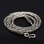 Byzantine <b>Antique</b> Silver 925 Mens Chain Necklace 100% Real Solid 925 Sterling Silver <b>Jewelry</b> Men 3mm Thick Chain Necklace Gift