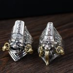Gold emperor wholesale <b>jewelry</b> line Thai silver S925 pure silver <b>antique</b> style men speak peace ring