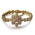 2018 New Bright Shiny Cubic Zirconia Women <b>Jewelry</b> Wedding Bridal <b>Accessories</b> Romantic Gift Floral Cuff Bracelet Flower Design