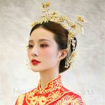 High Quantily Crown Traditional Chinese Wedding Bride Hair Tiaras Hanfu Costume Hair <b>Accessory</b> Bride Princess Hair <b>Accessories</b>