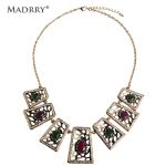 Madrry Fashion Personality Turkish Necklace Vintage Choker <b>Antique</b> Gold Color Resin <b>Jewelry</b> Dress Accessories Joias Bijuterias