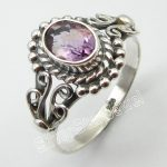 Solid Silver Natural Amethysts <b>Antique</b> Look Ring Size 7.5 ! Women's <b>Jewelry</b>
