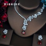 HIBRIDE Beautiful Design Full Cubic Zirconia Women Bride <b>Jewelry</b> Sets Earring Set Wedding <b>Accessories</b> Gifts Wholesale N-430