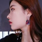Vintage Geometric <b>Antique</b> Drop Earring For Women New Fashion Green Stone Statement <b>Jewelry</b> Party Dangle Drop Earring