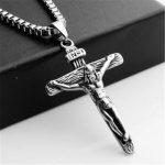 vintage male stainless steel <b>antique</b> silver cross pendant necklace charms jesus necklaces pendants choker men fashion <b>jewelry</b>