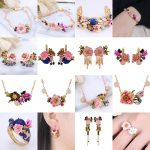 High Quality Flower Earring Bracelet Necklace <b>Jewelry</b> Sets For Women Lady Party <b>Accessories</b> Elegant All-match