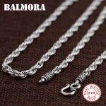 BALMORA BALMORA 100% Real 925 Sterling Silver <b>Jewelry</b> Retro Chains Necklaces for Men Male Pendant <b>Accessories</b> Bijoux SZ0157