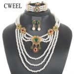 CWEEL Luxury Bridal <b>Jewelry</b> Sets For Women Simulated Pearl Wedding Jewerly Sets Bohemian African Beads <b>Jewelry</b> Set <b>Accessories</b>