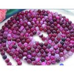Women Gift <b>jewelry</b> choker anime gem chocker maxi LONG 100″ 8m ANTIQUE <b>ART</b> <b>DECO</b> GENUINE RARE PINK CHALCEDONY stone BEADS NECKLACE