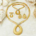 "YIWU CZ African Fashion Crystal Necklace Unique ""8"" Shaped Pendant <b>Jewelry</b> <b>Accessories</b> Dubai Elegant Lady Bride <b>Jewelry</b> Sets"