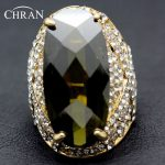Chran Olive Green Exaggerated Rings Party Promotion Rose Gold <b>Jewelry</b> <b>Accessories</b> Free Shipping (Dragon DFDR0056)