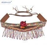 Womens Clothing <b>Accessories</b> Gypsy Turkish Bohemian Belt Body Chain Ethnic Belt Dresses Retro Leather Belt Flower Belt Cummerbund