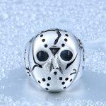 Rings For Men Halloween Hiphop Men Ring 316L Titanium Steel Biker Jason Voorhees Hockey Mask <b>Antique</b> <b>Jewelry</b> BR8-052