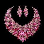 Pink Christmas wife Present <b>Jewelry</b> sets Bridal Necklace Earring Sets Women Statement Wedding Decoration <b>Jewelry</b> <b>accessories</b>
