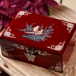 Christmas Birthday wedding High-grade gift BEST present -TOP Hand carving bird Magpie wood Inlay shells <b>Jewelry</b> Lacquer Box