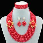 2016 weding <b>accessories</b> nigerian wedding african beads bridal pearl <b>jewelry</b> women crystal pearl <b>jewelry</b> set necklace earrings