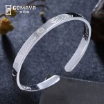 GOMAYA Authentic 999 Sterling Silver Bangles for Women Fine <b>Jewelry</b> Gift 2018 New Cuff Bracelets <b>Antique</b> Bangles